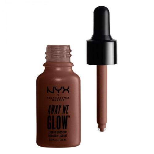 Nyx professional makeup Away We Glow Liquid Booster Skysta švytėjimo suteikianti priemonė 12.6ml
