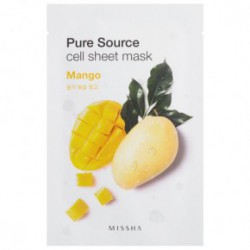 Missha Pure source cell sheet Veido kaukė su alijošiumi 21gMangai