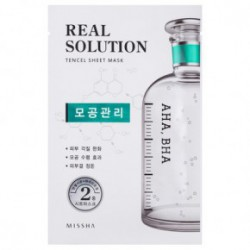 Missha Real solution tencel Veido kaukė (intensive moisturizing) Pore Control25g