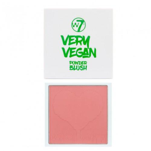 W7 cosmetics W7 very vegan blusher skaistalai (spalva - sugar sugar) 10g
