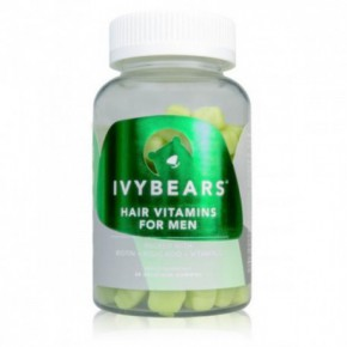 Ivybears Hair vitamins for men plaukų augimą skatinantis maisto papildas vyrams 1 Mėnesiui