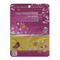Ja Yeon Mapping Grape Essence Mask Veido kaukė su vynuogių ekstraktu 24g