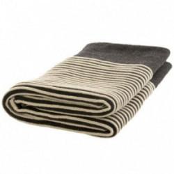Nord Snow Merino vilnos pledas Striped style Tamsus
