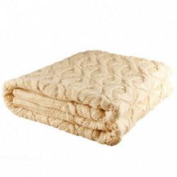 Nord Snow Merino vilnos pledas Honeycomb Style Ecru White