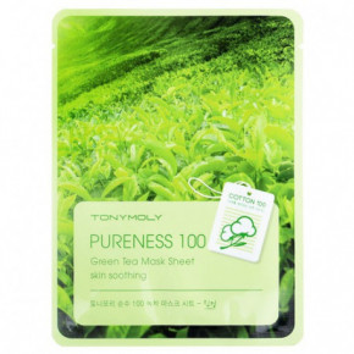 Pureness 100 Green Tea Mask Sheet Veido kaukė su žaliaja arbata