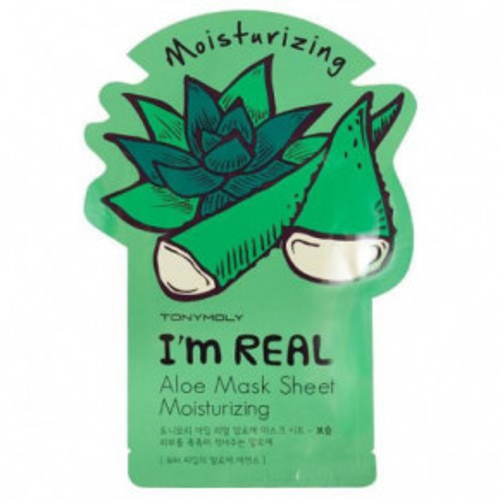 I'm Real Aloe Mask Sheet Drėkinanti veido kaukė