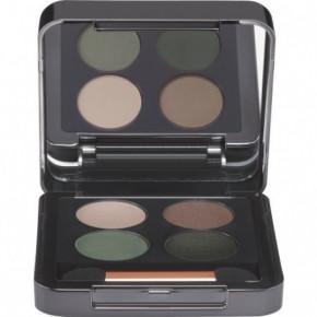 Eye Shadow Quattro 03 Green Šilkinės tekstūros akių šešėlių paletė