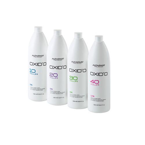 AlfaParf Milano O'XIDO Creamy Stabilized Hydrogen Peroxide Oksidantas 1000ml