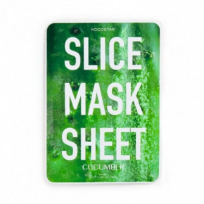 Kocostar Cucumber Slice Mask Sheet Veido kaukė 20ml