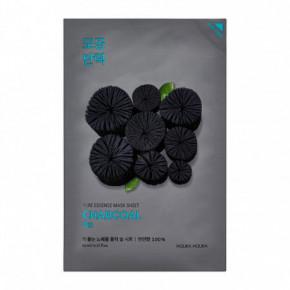 Pure Essence Mask Sheet Charcoal Lakštinė veido kaukė su medžio anglies milteliais
