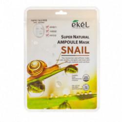 Ekel Super Natural Ampoule Mask Snail Lakštinė veido kaukė su sraigių mucino ekstraktu 25g