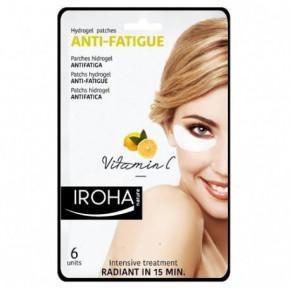 IROHA Eye Pads Antifatigue Vitamin C Paakių kaukė su vitaminu C 6vnt