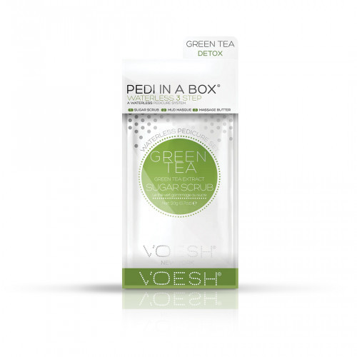 VOESH Waterless Pedi In A Box 3in1 Green Tea Extract Procedūra kojoms Rinkinys