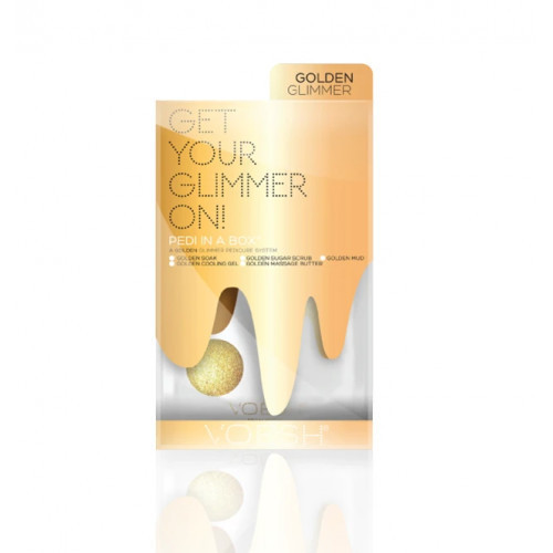 VOESH Pedi In A Box 5in1 Golden Glimmer Procedūra kojoms Rinkinys