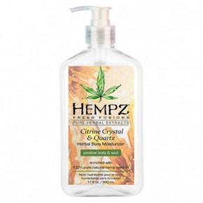 Citrine Crystal & Quartz Herbal Body Moisturizer Drėkinantis kūno kremas