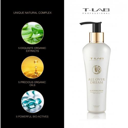T-LAB Professional All Over Dream 15 Actions Cream Plaukų kremas su 15 veikimo galimybių 150ml
