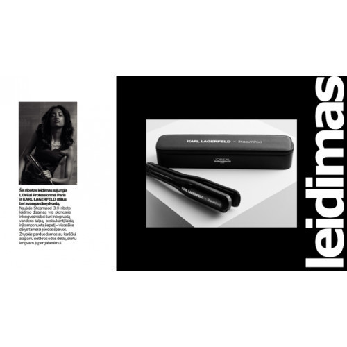 L'Oréal Professionnel Steampod 3.0 Limited Edition x Karl Lagerfeld Plaukų formavimo žnyplės 1vnt