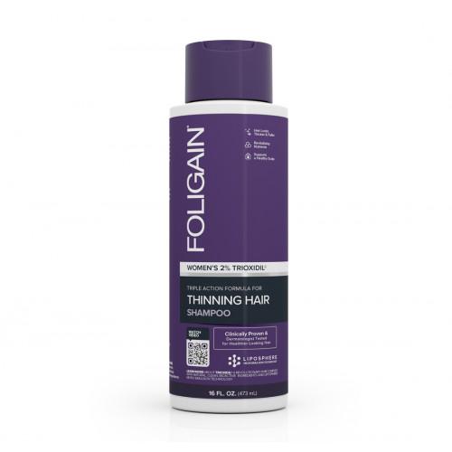 Foligain Hair Regrowth Shampoo Plaukų augimą skatinantis šampūnas moterims su 2% Trioksidiliu 236ml
