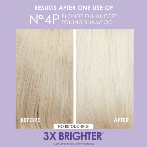 Olaplex No. 4P Blonde Enhancer Toning Shampoo Tonuojantis ir plaukus stiprinantis šampūnas 250ml