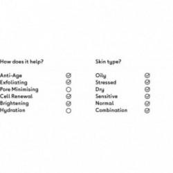 Q+A Apple AHA Exfoliating Gel Gelinis veido šveitiklis