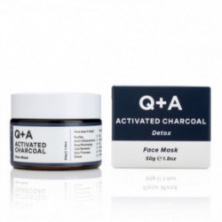 Q+A Activated Charcoal Detox Face Mask Valomoji veido kaukė su aktyvuota anglimi 50g